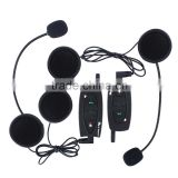 2 pcs V2-500 Motorcycle Moto Bluetooth Helmet Headset Intercom Intercomunicador de motos Headphone for 2 Riders