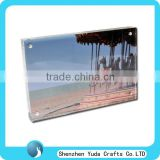 diamond polish lucite photo frame square acrylic magnetic photo display holder acrylic block with picture