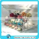 clear tabletop jewelry display case with lock ,acrylic jewelry display case for headdress flower with T-bar