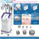 Fat Burning Vacuum Body Slimming System Rf Cavitation 5 In 1 Cavitation Machine Machine - ESWT Shape II Liposuction Cavitation Slimming Machine