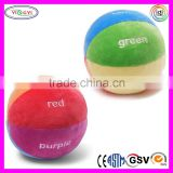 C312 Color Fun Educational Stuffed Rattle Ball Toys Plush Baby Kids Soft Play Balls
