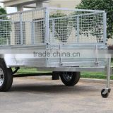 2016 Hot Sales!!! High Quality 7x5ft Hot Dipped Galvanized Stronger Utility Caged Box Trailer