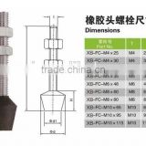 Inquiry About Toggle clamp accessories bolts with rubber head