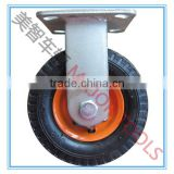 6 inch pneumatic caster wheel set with small top plate 6X2