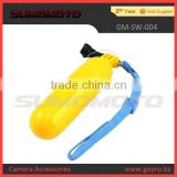 Plastic yellow Bobber floating float handle grip Gopro mount
