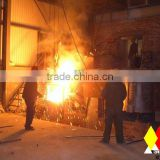 Metal scrap and metal melting electric furnace