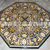 Octagonal Marble Inlay Dining Table Top, Marble Table Top