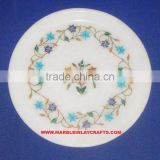 Marble Inlay Flower Plate