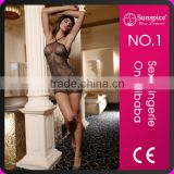 Sexy Transparent Shiny Babydoll Nighties Mature Women Babydoll Lingerie with Thong