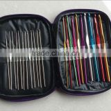 22pcs aluminum crochet hooks in fabric case