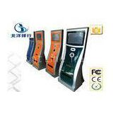 Indoor Multimedia Internet Self Service Banking Kiosk Cash Payment Kiosk Stand