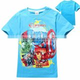 Whoesale Super Hero Captain America T-shirts for kids 100% cotton Printed T-Shirts Captain America design T-Shirts for Children