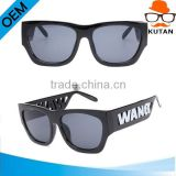 Fashion Kiss sunglasses Fashion sunglasses brand new AL Wang Tortoise Name Fashion Engraving temples Sunglasses