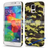 Embossed Multi-color Camouflage Pattern Rubber Coated PC Hard Case for Samsung Galaxy S5 I9600 G900