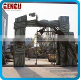 Amusement Park Decoration Novel Fiberglass Dinosaur Door