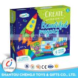 China manufacture educational kids funny intelligent sticker diy toy