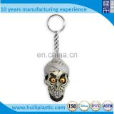 Custom 3D skull keychain ,Custom shaped skull plastic keychain factory Making custom made keychains plastic