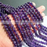 8mm natural round AA grade gemstone beads bulk wholesale amethyst wholesale natural purple beads