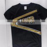 oem cheerleading uniforms boys metallic long sleeve shirts