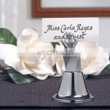 Silver Bride and Groom Wedding Bell/Place Card Holder