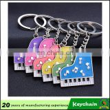 2016 new fashion key chain custom logo made colorful piano keychain, metal 3d piano keyring for sale