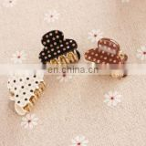 Colorlful dot acrylic toddlers hair claw clips