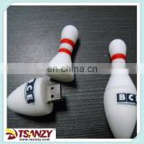 custom the bowling ball shaped usb pen drive,rubber usb flash drive ,plastic soft pvc usb flash memory