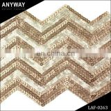 Fashion sequin embroidery beaded lace fabric