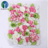 china factory artificial rose flower wall for wedding decoration