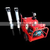 hand held hydraulic rock splitter with diesel power station