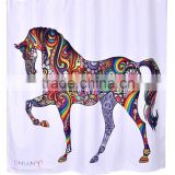Hotel decorative shower curtain, China style shower curtain, DIY digital shower curtain
