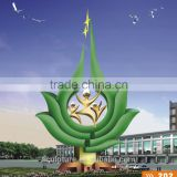 stainless steel for outdoor landscape garden sculpture metal material painted color tree artficial