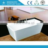 beautiful appearance artificial stone bathtub, solid surface bathtub sale to Europe market