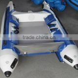 optional transom PVC catamaran racing inflatable boat high speed quality Aluminum floor