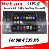 Wecaro Android 4.4.4 car dvd player 1 din for bmw e39 navi car stereo 16GB Flash 1995-2003
