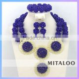 Mitaloo MT0003 African Necklace Fashion Set Jewelry Store Design Crystal Necklace Jewelry