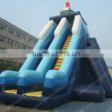 giant inflatable slide for adult, giant commercial water park infaltable water slide for adult