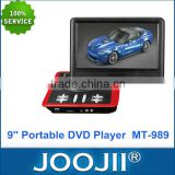 2015 HOT SELLING POPULAR DESIGN 9 Inch Car Portable DVD Player With Analog TV/FM Radio/Game/USB/SD/Rechargeable Battery