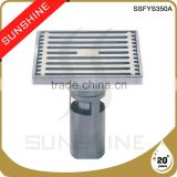 SSFYS350A Bathroom and toilet square stainless steel tile shower drain