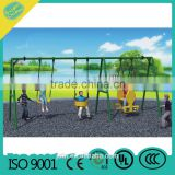 Swing Set Playground Metal Swingset Outdoor Play Slide Kids Backyard Playset Fun