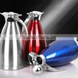 beauty design color double wall stainless steel coffee pot with big mouth, household stainless steel vacuum pot kettle teapot