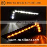 New Arrival With Yellow Turn Signal LED DRL Light Super Quality Daytime Running Light LED for Honda City 2014-2015