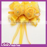 Hot sell ! ! Fashion Children brooch satin ribbon handmade flowers decoration Bract flowers