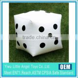 pvc Inflatable cube party toy Dice Soft Square Family Game Beach
