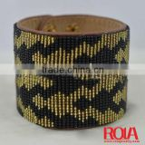 handmade leather bracelet supplies HANDMADE BEAD LEATHER BRACELET WHOLEALE JEWELRY FASHION ORNAMENT ACCESSORY