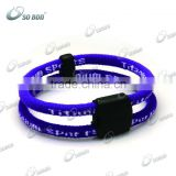 double color sports balance football bracelet made in china
