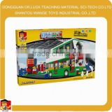 edu toy scale models bus toy bus double decker
