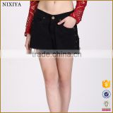 New Fashion Shorts Black Jeans Design For Girl In Guagnhzou