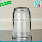 Promotional measuring glass cups simple drinking cups comfortable wine and juice glass cups with round bottom