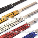Stainless steel Foldable Butterfly Knife Style Butterfly Hair Comb
